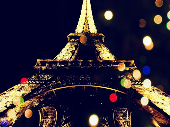 Paris by night Art Print