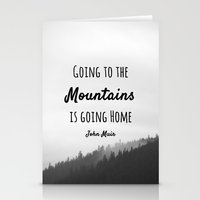 Going To The Mountains I… Stationery Cards