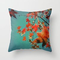 Leaf Constellation Throw Pillow