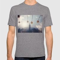 COAST TO COAST Mens Fitted Tee Tri-Grey SMALL