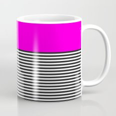 STRIPE COLORBLOCK {PINK} Mug