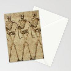 walking skeleton beauties Stationery Cards