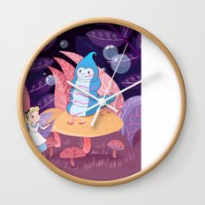 Alice In Wonderland and The Caterpillar Wall Clock