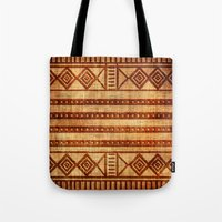 Embossed African Pattern Tote Bag