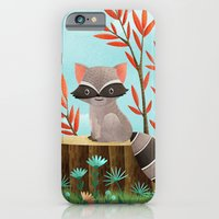 iPhone & iPod Case featuring Woodland Friends - Raccoon by Stephanie Fizer Coleman