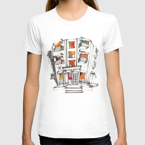 Japanese building T-shirt