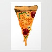 Pizza Queen Art Print
