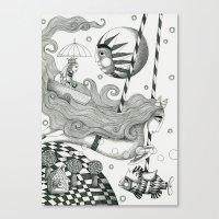 East of Blue Lake Canvas Print