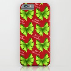 Merry Christmas Bows iPhone 6 Slim Case
