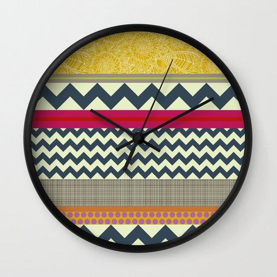 New York Beauty stripe Wall Clock