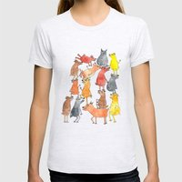 Dog Pyramid Womens Fitted Tee Ash Grey SMALL
