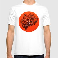 Old School Rocks (Orange… Mens Fitted Tee White SMALL