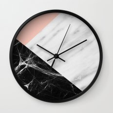 Marble Collage Wall Clock