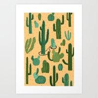 The Snake, The Cactus An… Art Print