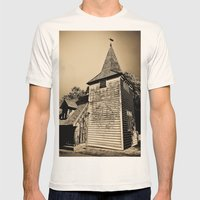 Greensted Church Art Mens Fitted Tee Natural SMALL