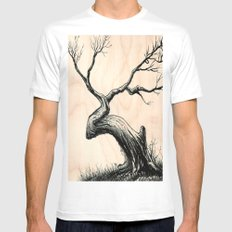 Tree in Bloom  Mens Fitted Tee White SMALL