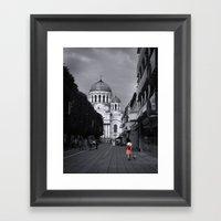 When In Lithuania Framed Art Print