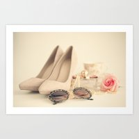 Girly Luxury Art Print