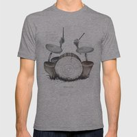 Mushroom Drums Mens Fitted Tee Athletic Grey SMALL