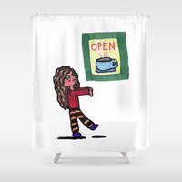 Coffee Zombie Shower Curtain