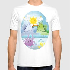 Happy land Mens Fitted Tee SMALL White