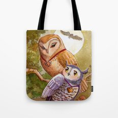 Someone To Watch Over Me ~ Owls in moonlight Tote Bag