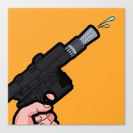 Canvas Print featuring Pop Icon - Water Blaster by Greg-guillemin