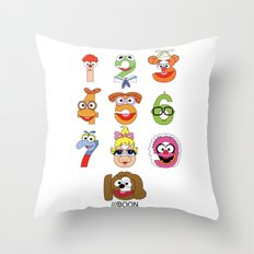 Muppet Babies Numbers Throw Pillow