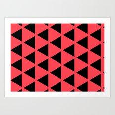 Sleyer Black on Pink Pattern Art Print