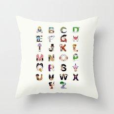DB Alphabet Throw Pillow