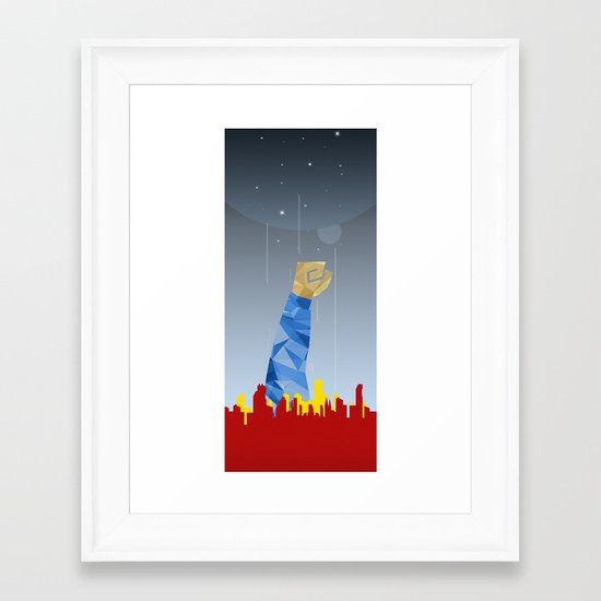 Polygon Heroes Rise 1 Framed Art Print