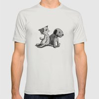 Gingham vs. Calico Mens Fitted Tee Silver SMALL