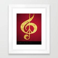 Music & Peace Sheet Music Framed Art Print