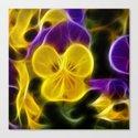 Glowing Violet Petunias Canvas Print