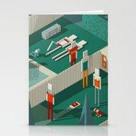 Stationery Cards featuring Habitat 21 by  Los Ilustrados