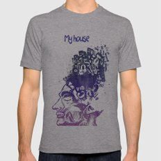 My House Mens Fitted Tee Athletic Grey SMALL