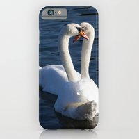 Swan Courtship  iPhone 6 Slim Case
