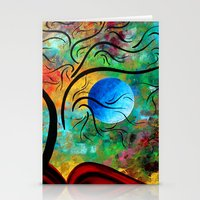 Abstract Art Bold Colorf… Stationery Cards