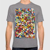 The Lego Movie Mens Fitted Tee Tri-Grey SMALL