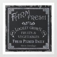 Art Print featuring Farm Fresh by Debbie DeWitt