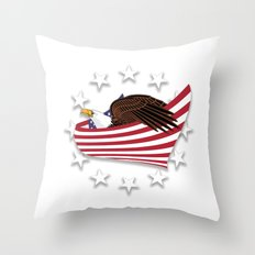 Eagle of the free V1.0 Throw Pillow