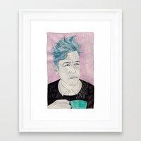 David Lynch Drinking Cof… Framed Art Print