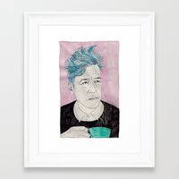 David Lynch Drinking Cof… Framed Art Print