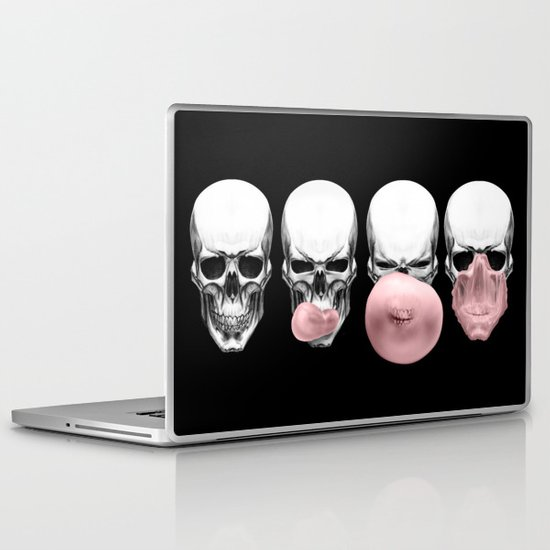 Skulls chewing bubblegum Laptop & iPad Skin