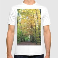 Autumn Gold Mens Fitted Tee White SMALL