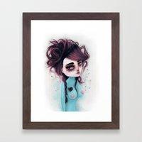hole on my own heart Framed Art Print