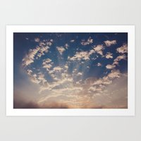 cape town skies Art Print