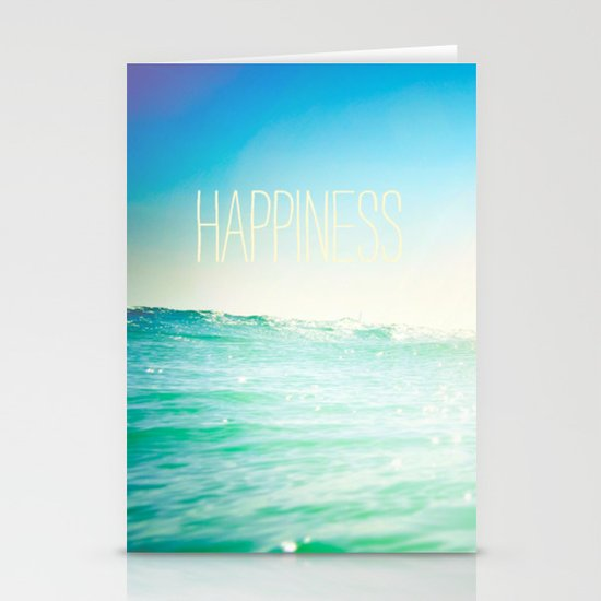 beachy happiness Stationery Card