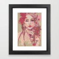 Petals And Thorns Framed Art Print