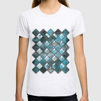 SquareTracts Womens Fitted Tee Ash Grey SMALL